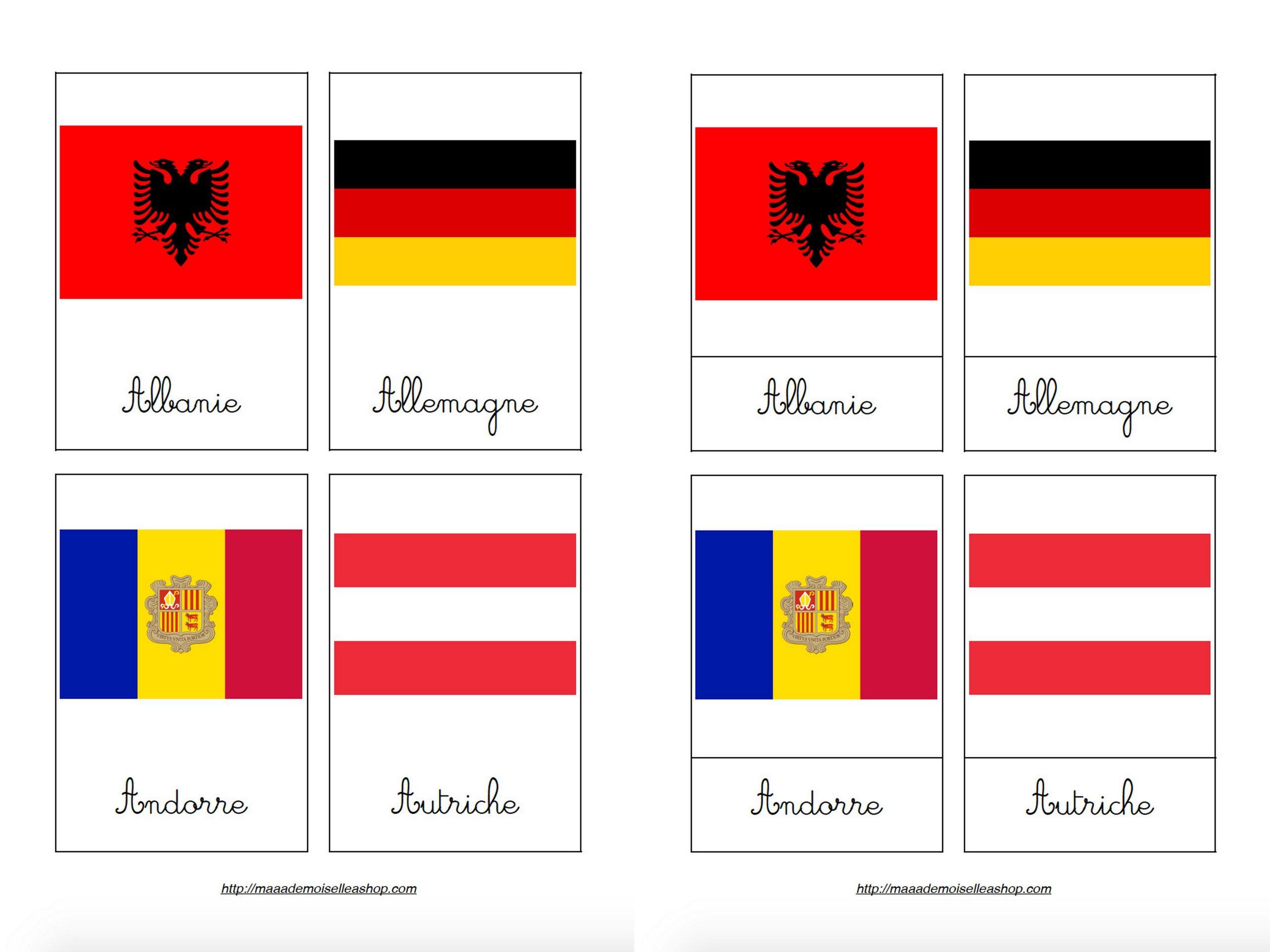 Cartes De Nomenclature - Drapeaux Des Pays D'europe (45 Cartes + Pochette  De Rangement) encequiconcerne Drapeaux Européens À Imprimer