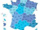 Cartes Des Départements Et Régions De La France - Cartes De destiné Carte France Avec Region