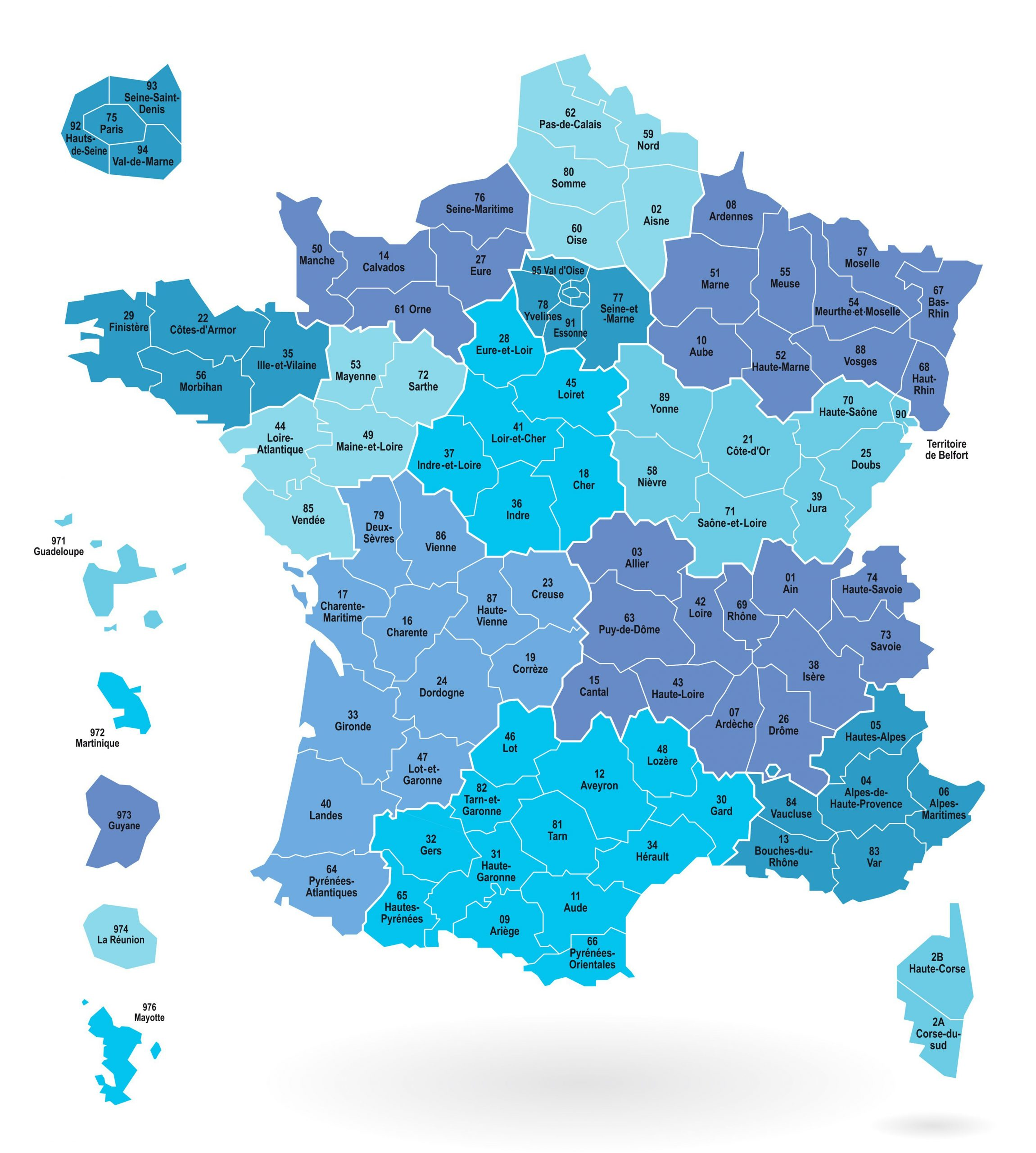 Cartes Des Départements Et Régions De La France - Cartes De pour Régions De France Liste