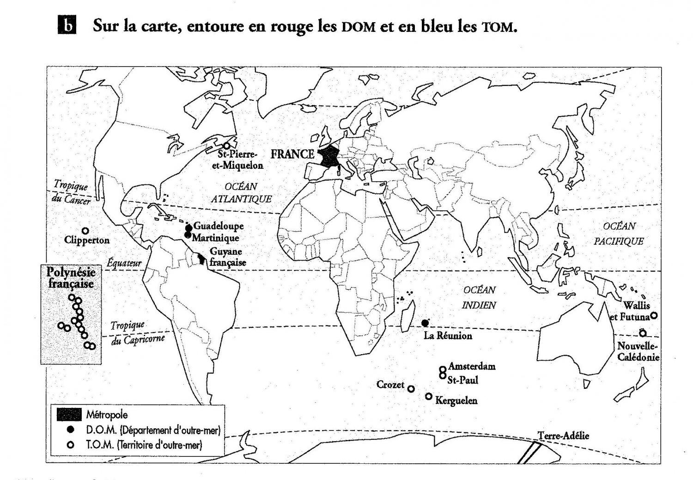 Cartes Dom Tom - Une Année En Cm1 Cm2 encequiconcerne Carte France D Outre Mer