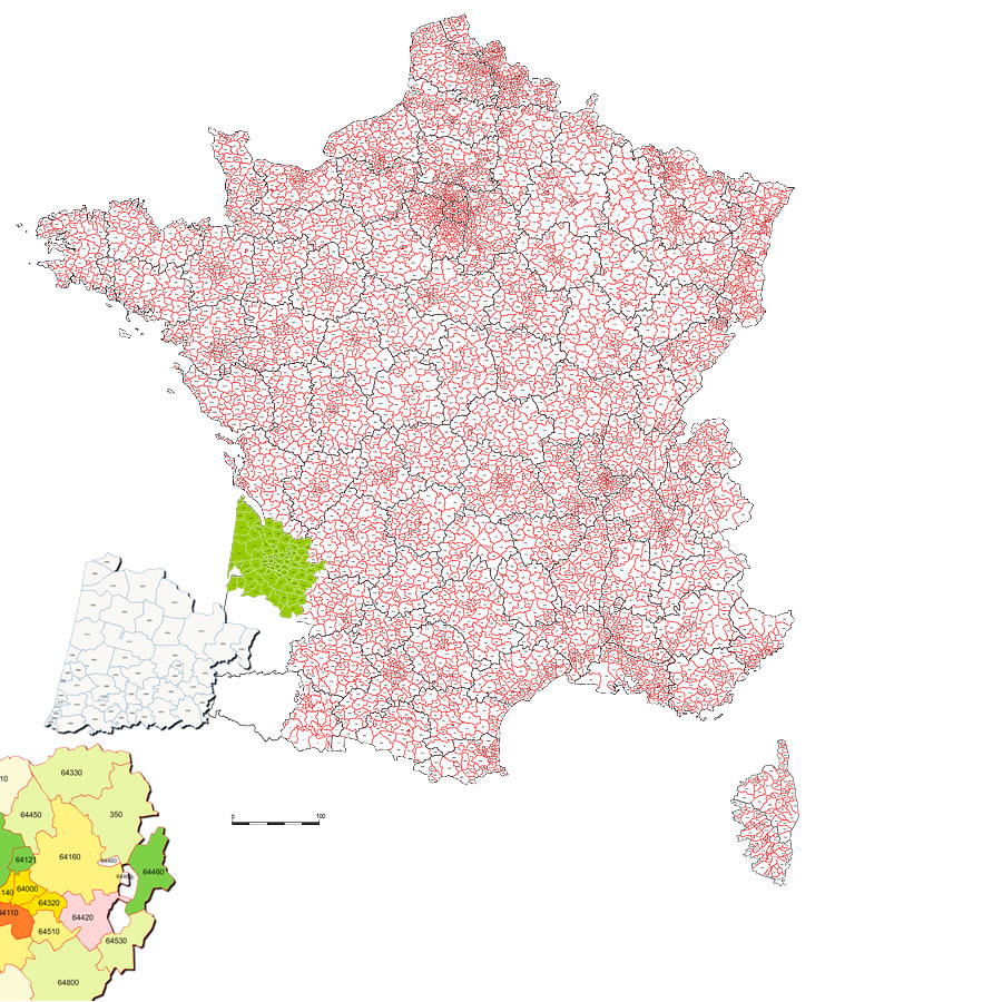 Cartes France intérieur Carte De France Grande Ville