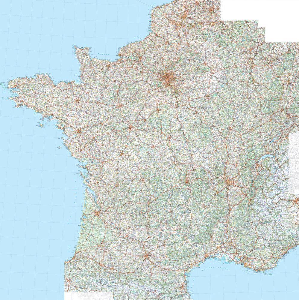 Cartes Géographiques - Tous Les Fournisseurs - Carte De destiné Carte De France Grand Format