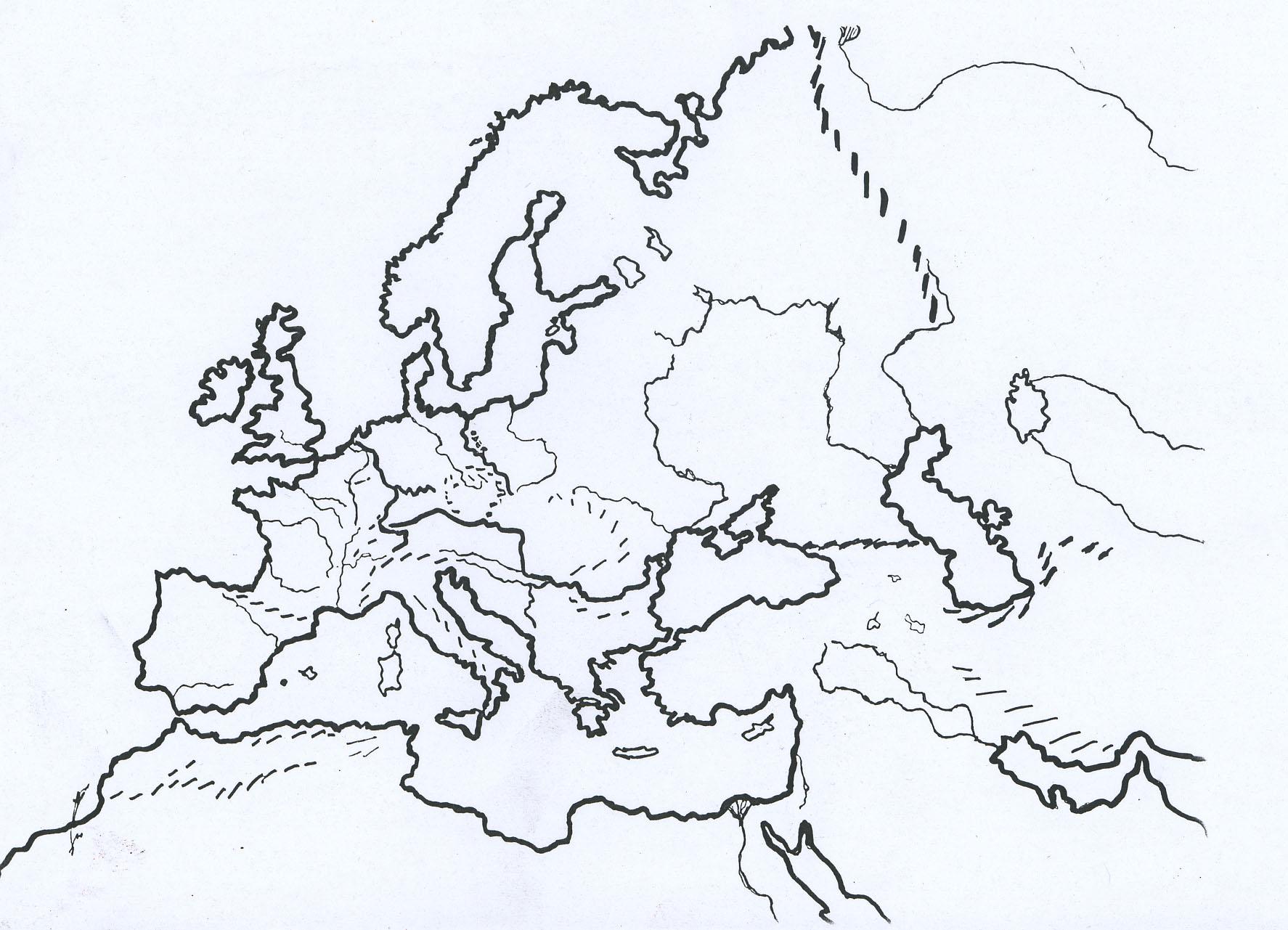 Cartes Histoire serapportantà Carte De L Europe Vierge