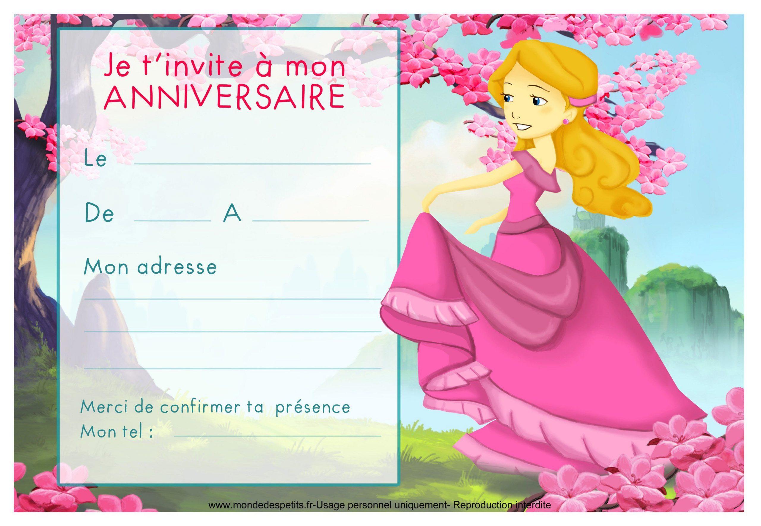 Cartes Invitation Anniversaire À Imprimer : Cartes dedans Jeux Fille 5 Ans Gratuit