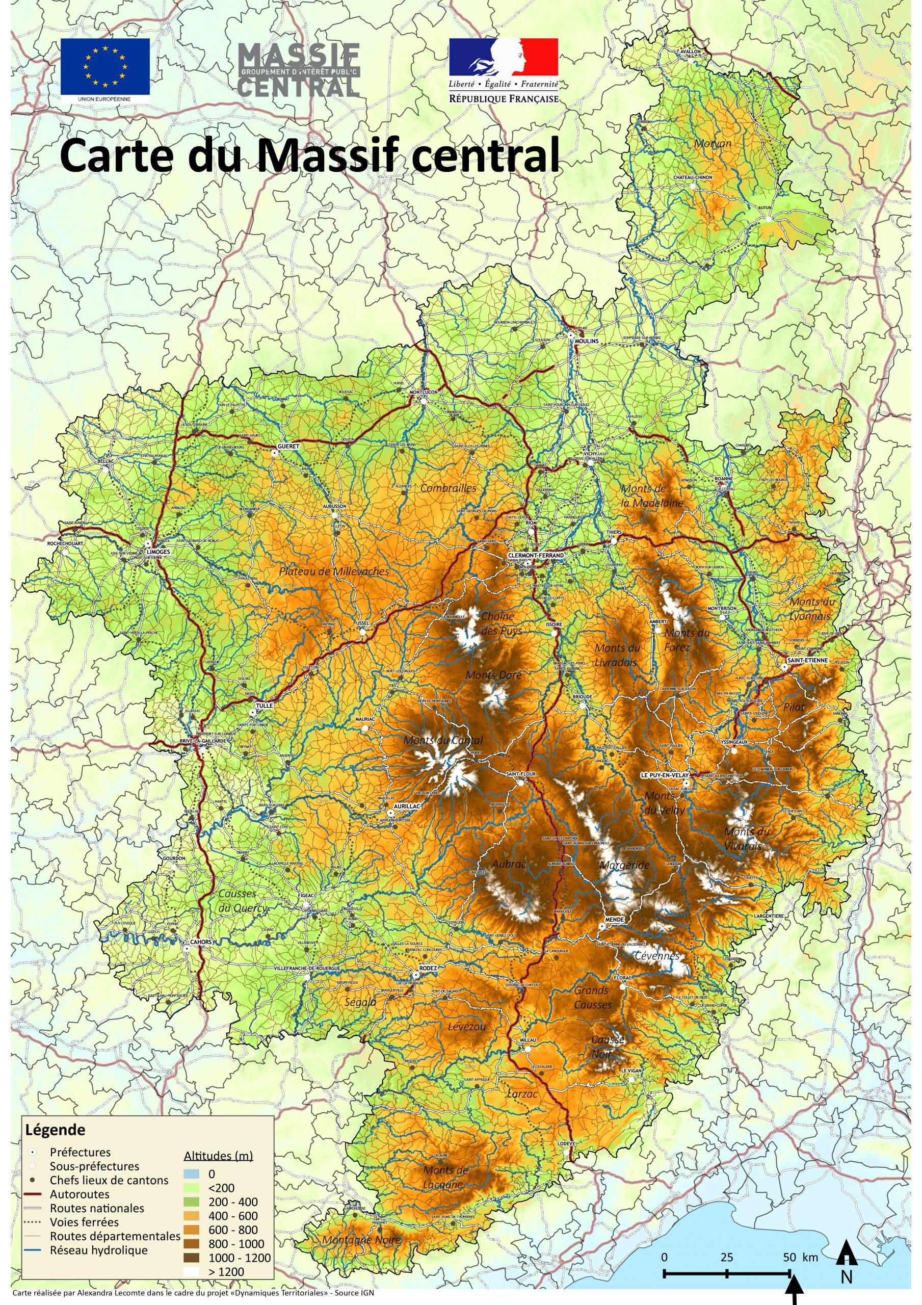 Cartes | Massif Central concernant Carte Europe De L Est