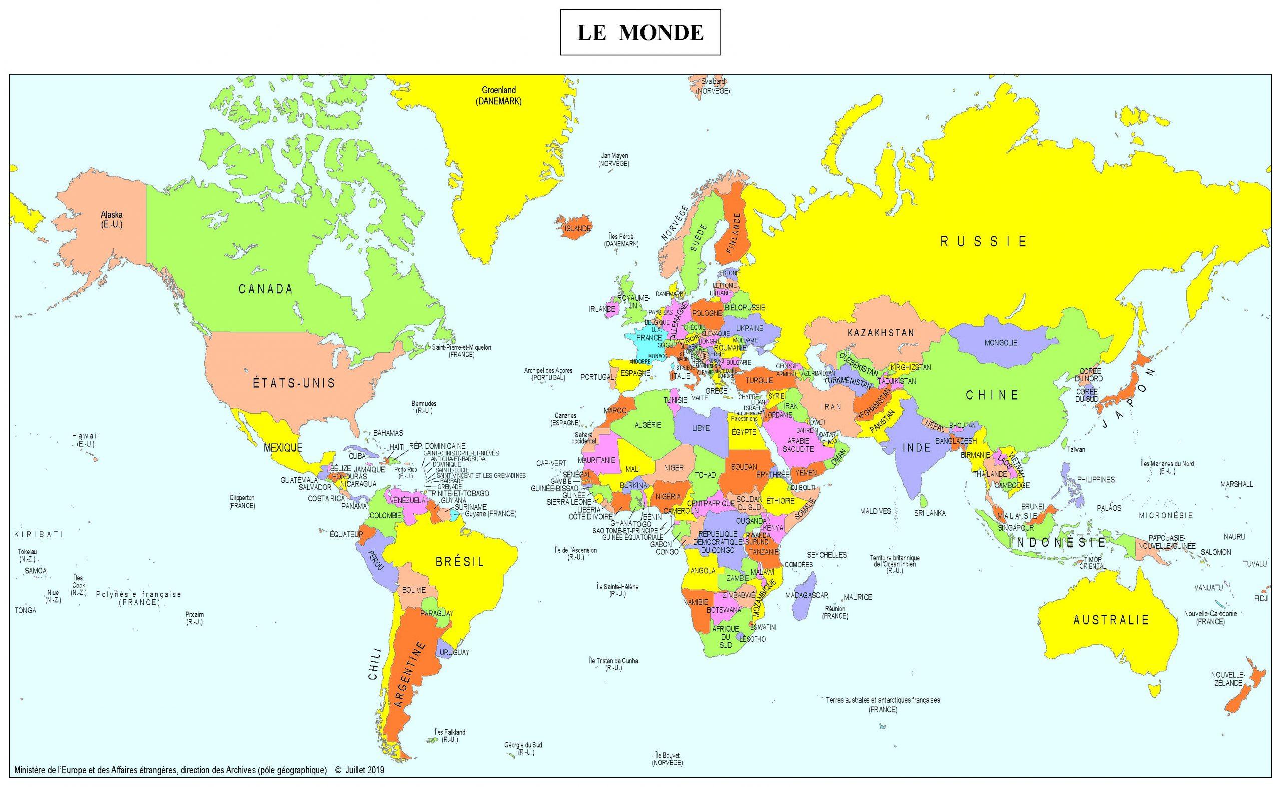 Cartes - Ministère De L'europe Et Des Affaires Étrangères intérieur Carte D Europe À Imprimer