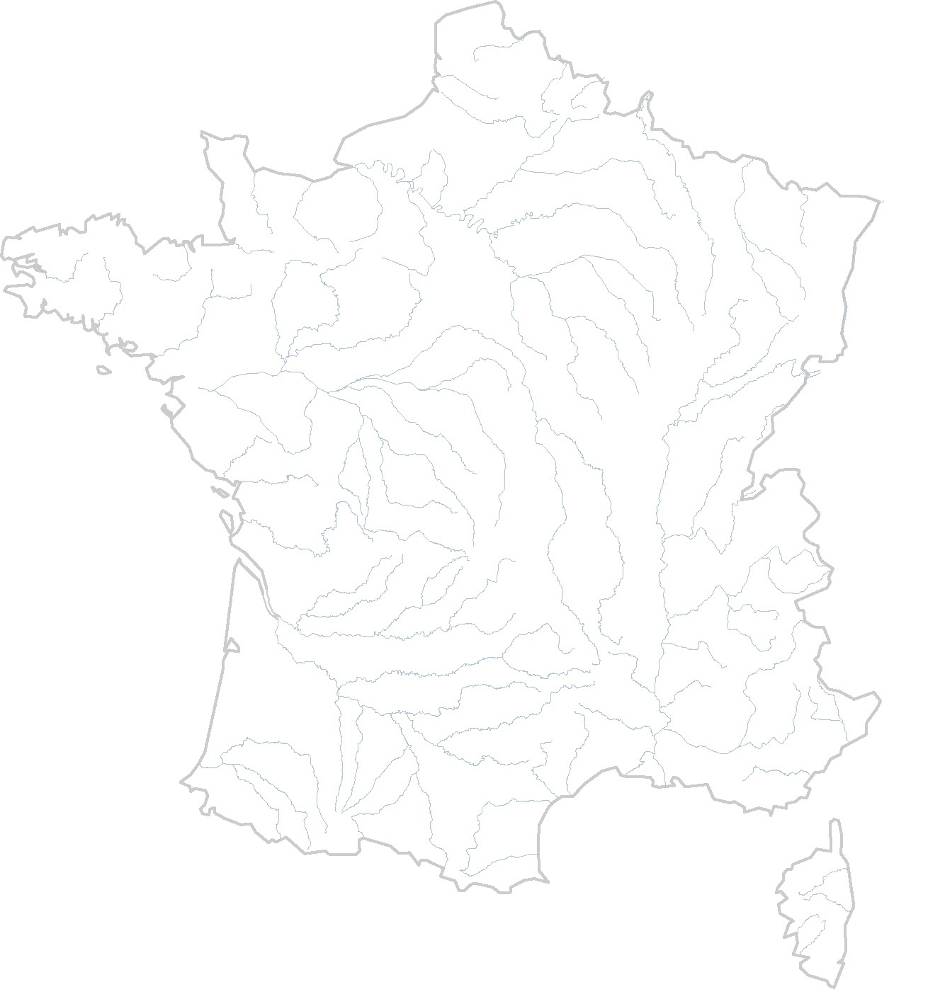 Cartes Muettes De La France À Imprimer - Chroniques dedans Carte Des Fleuves En France