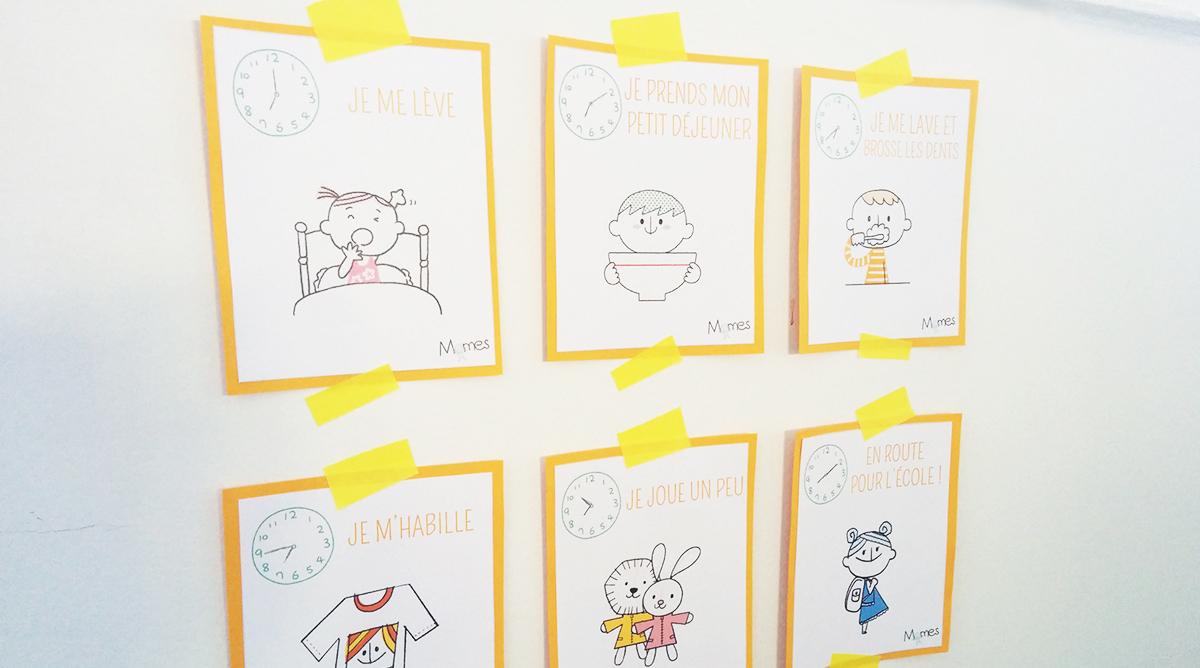 Cartes Routines Du Matin Et Du Soir - Momes à Jeux Bébé 2 Ans Gratuit A Telecharger