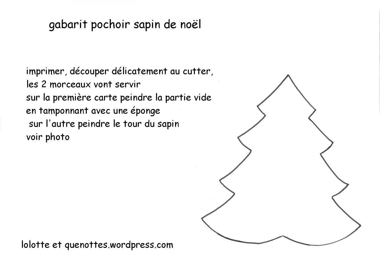 Cartes Sapin De Noël Au Pochoir Maison | Pochoir, Pochoir pour Gabarit Sapin De Noel A Imprimer