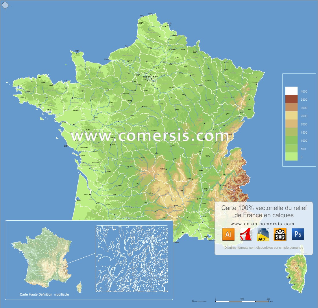 Cartes Vectorielles France encequiconcerne Carte De France Avec Region