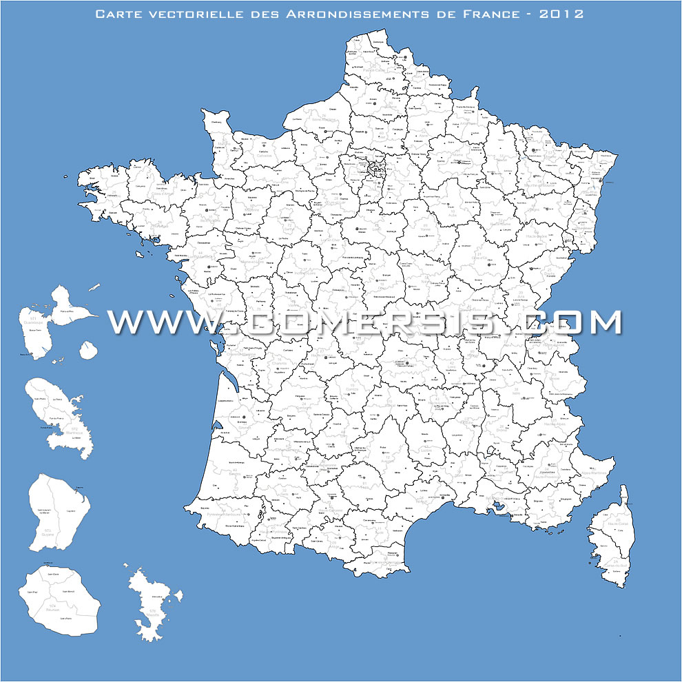 Cartes Vectorielles France encequiconcerne Carte Des Départements De France 2017