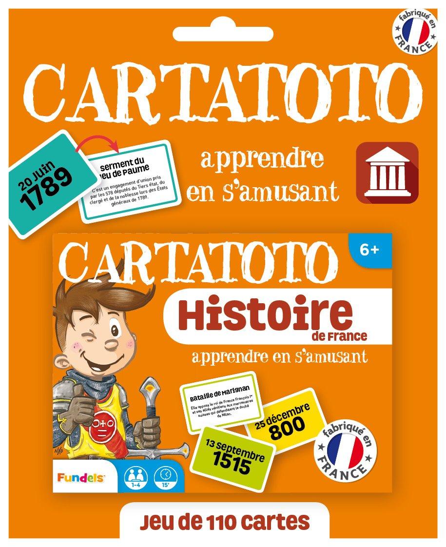 Carto - Histoire De France - Jeu De Cartes Educatif pour Jeu Carte De France