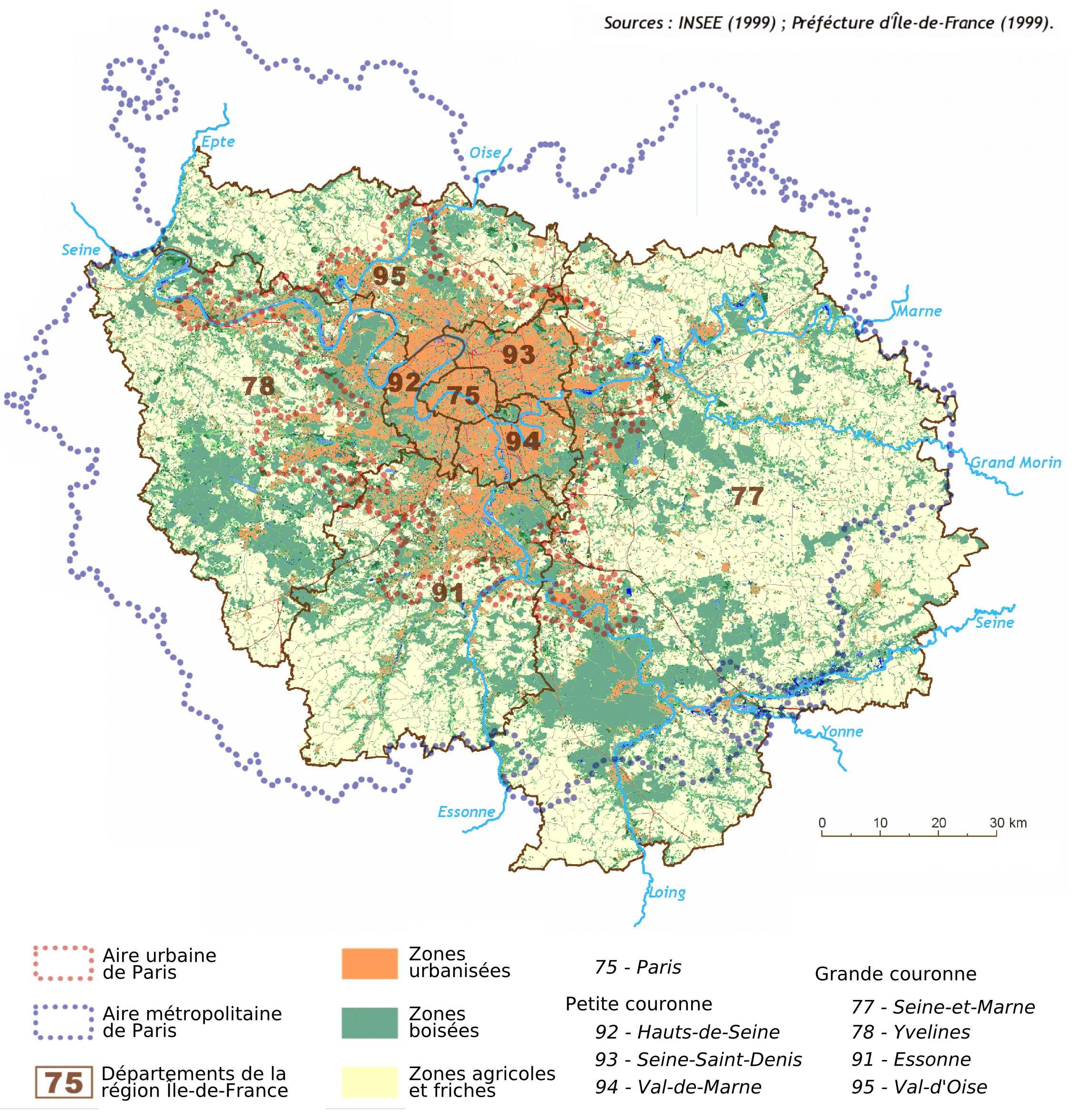 Cartograf.fr : Carte De L'île-De-France encequiconcerne Carte De France Avec Les Villes