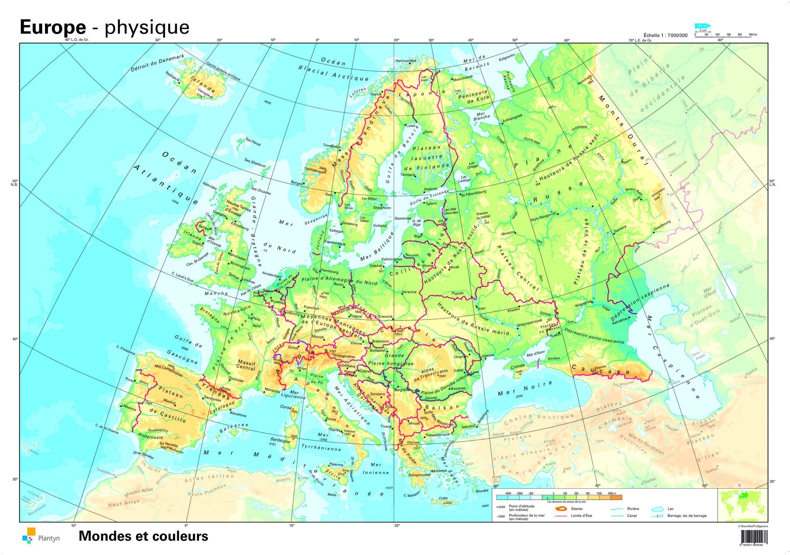 Cartograf.fr : Carte Europe : Page 7 intérieur Carte Europe De L Est