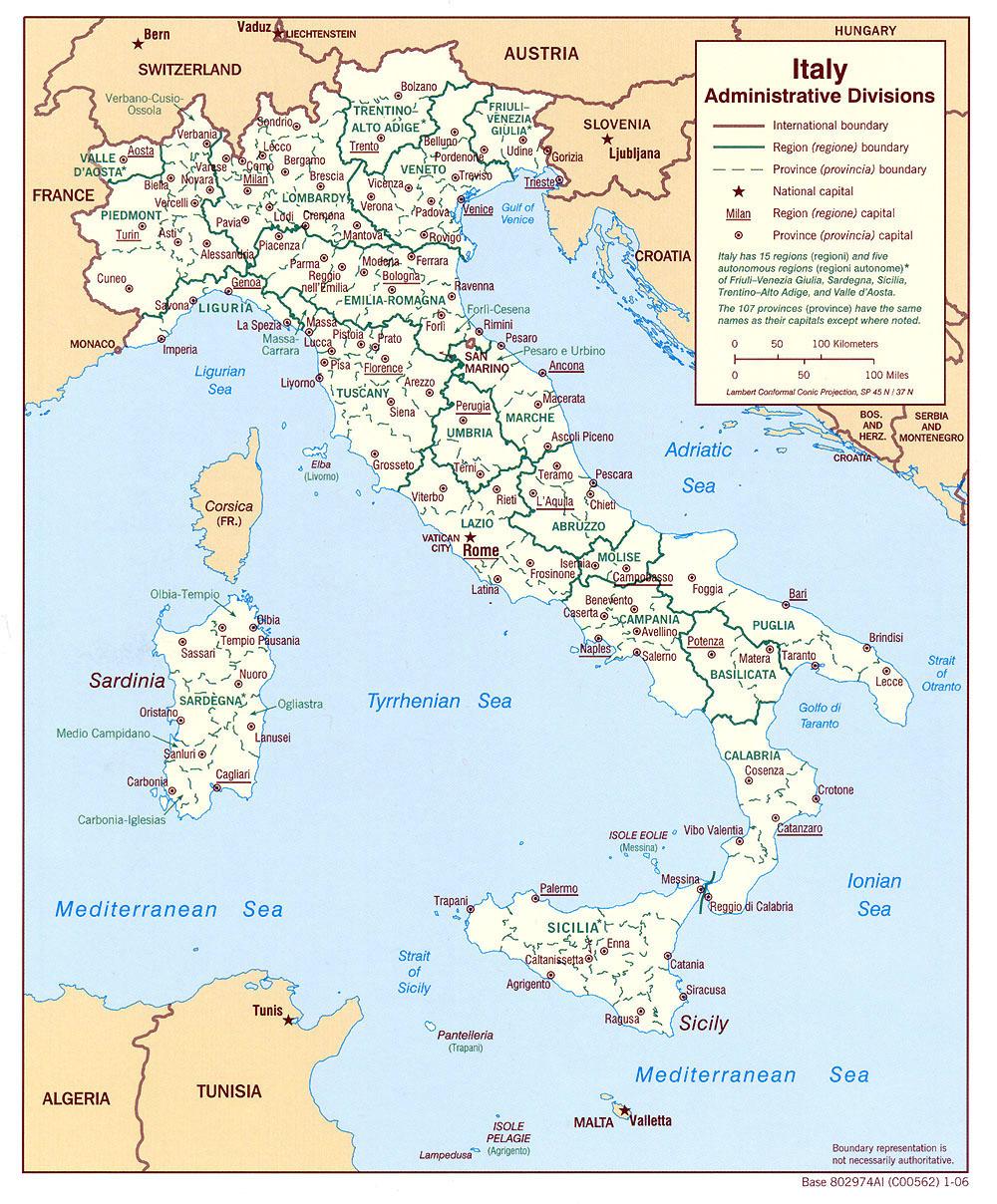Cartograf.fr : Les Cartes De L'italie destiné Carte Des Régions De France À Imprimer Gratuitement