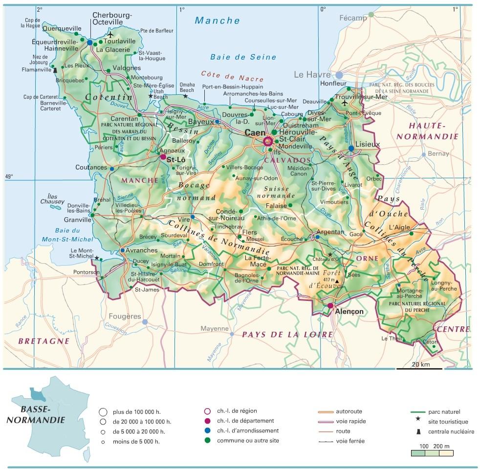 Cartograf.fr : Les Régions De France : La Basse-Normandie serapportantà Carte De La France Avec Ville