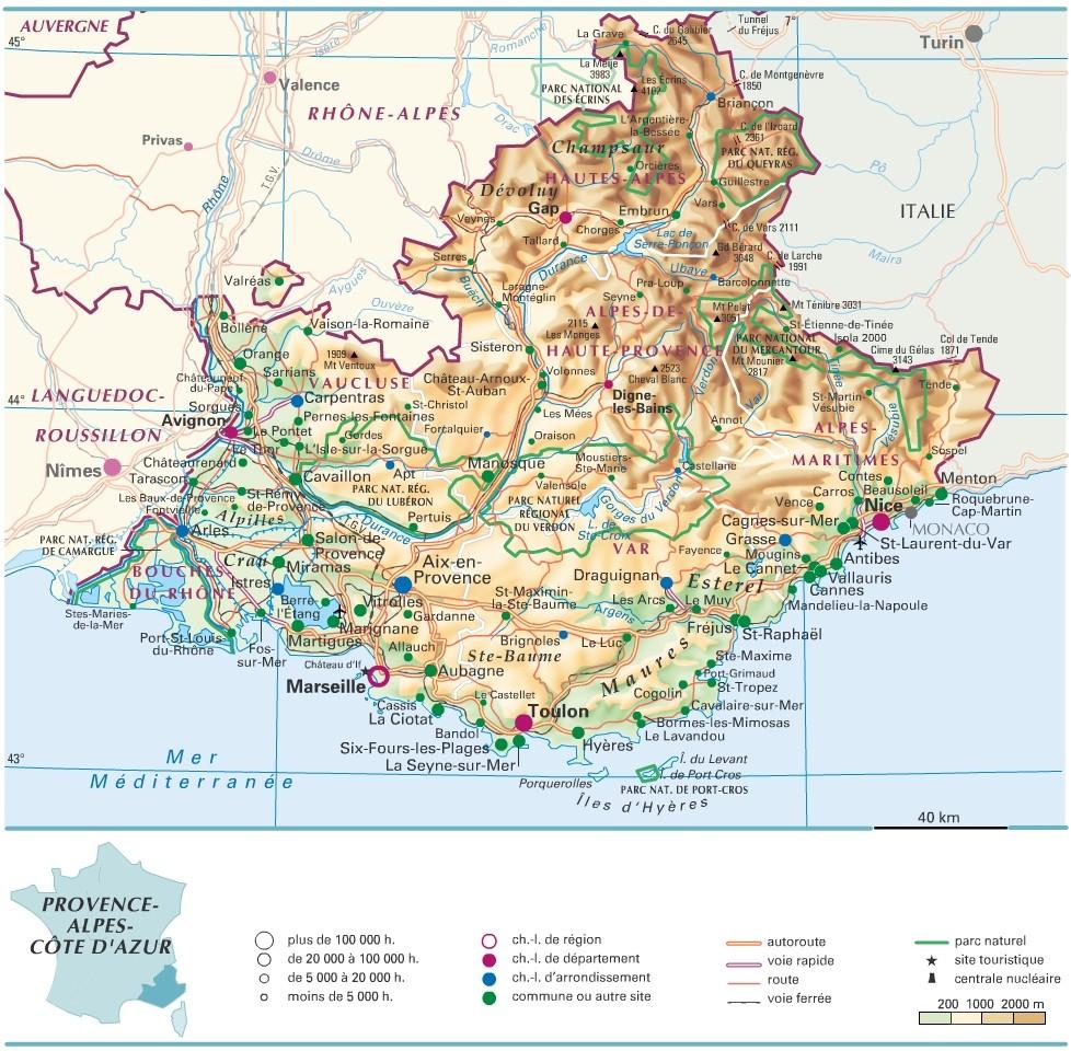 Cartograf.fr : Les Régions De France : La Provence-Alpes tout Carte De France Avec Region