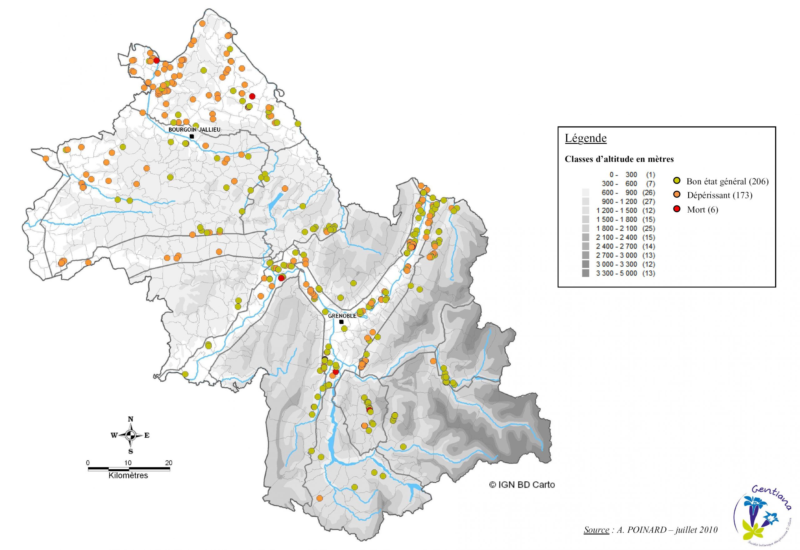 Cartographie avec Département 13 Carte