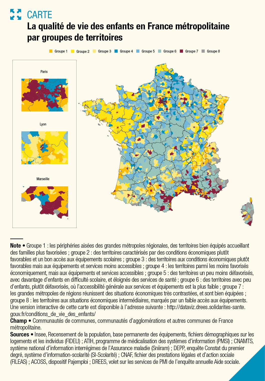 Cartographie De La Qualité De Vie Des Enfants En France destiné Carte De France Pour Enfant