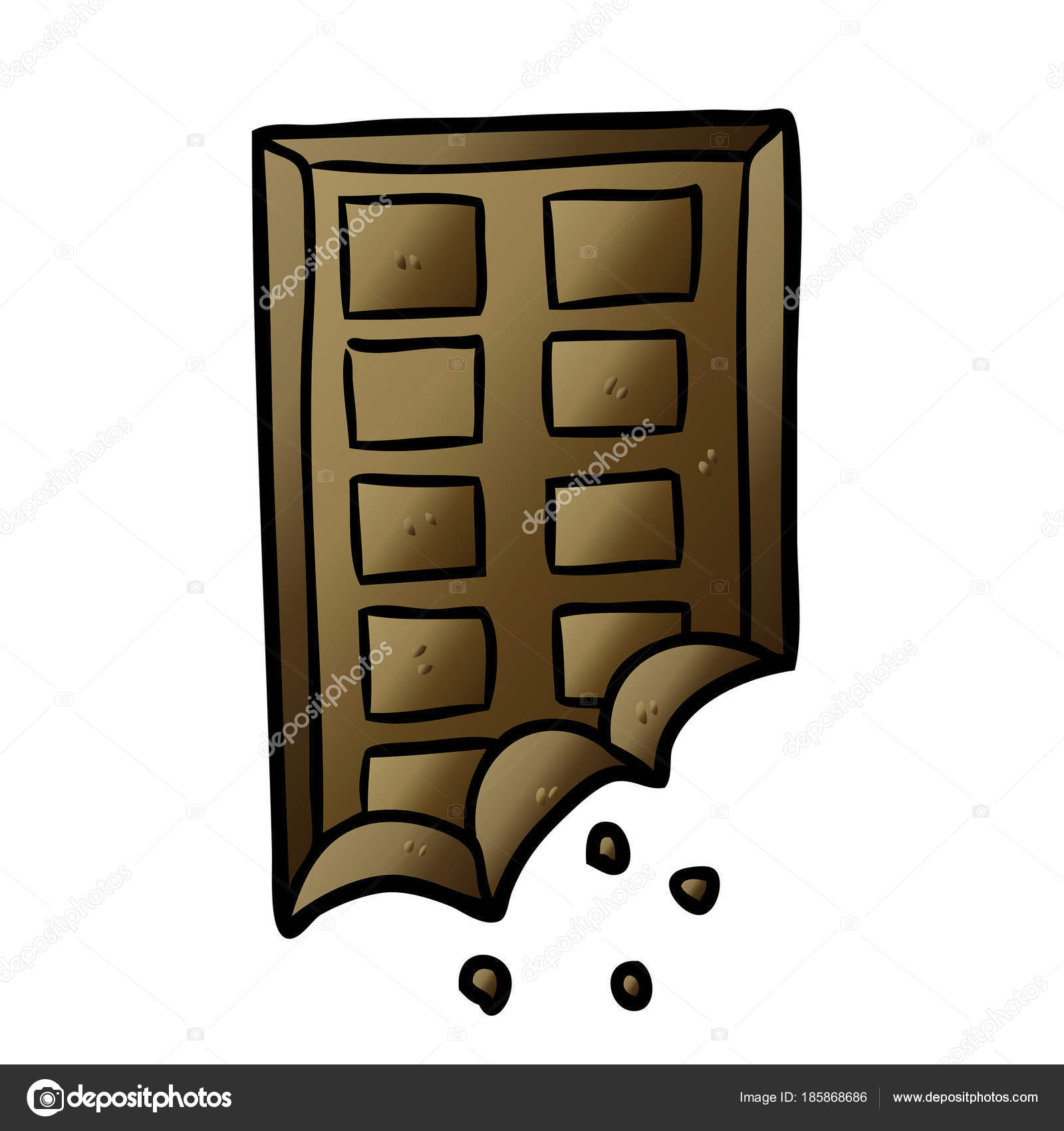 Cartoon Bar Chocolate — Stock Vector © Lineartestpilot tout Tablette Chocolat Dessin