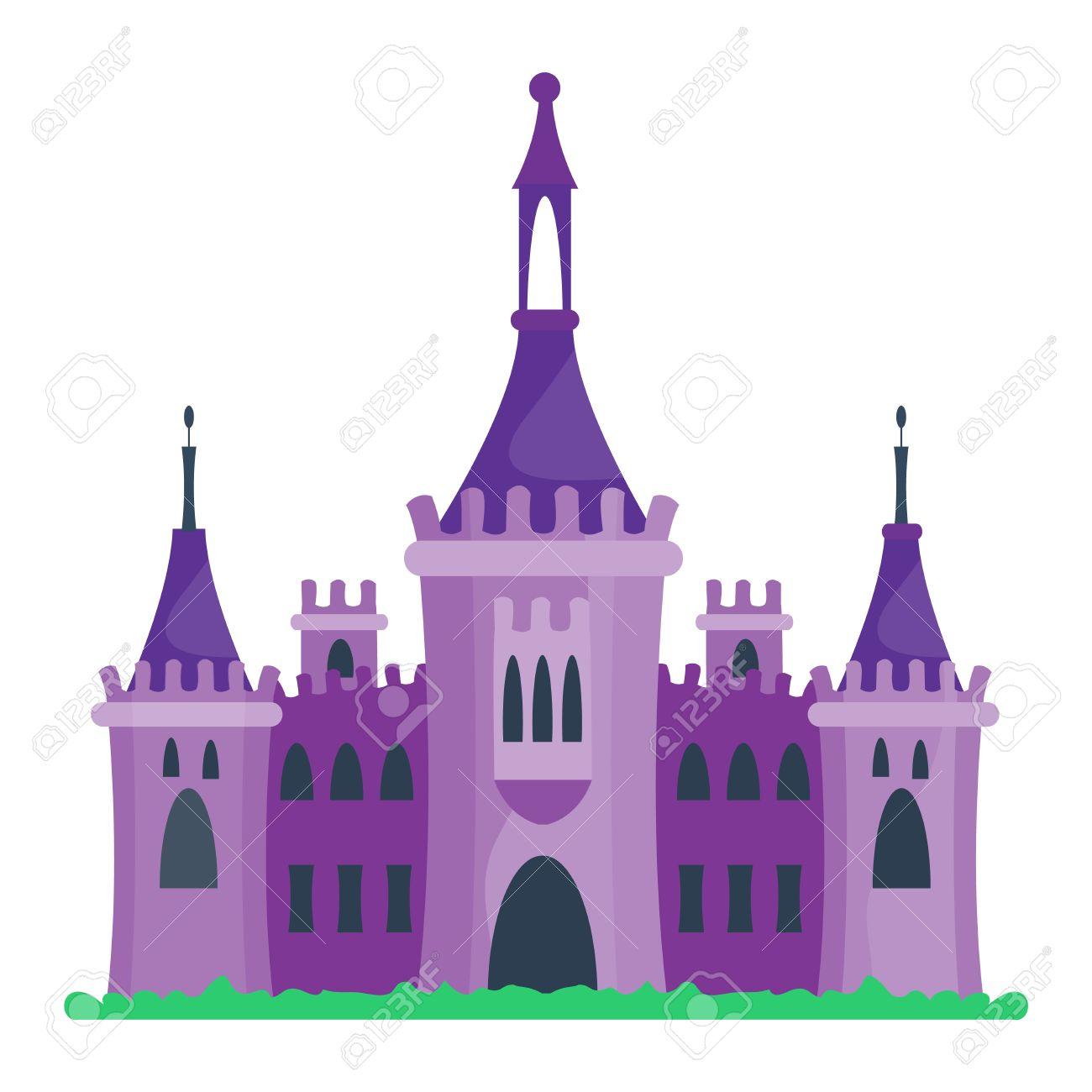 Cartoon Fairy Tour Du Château De Conte Icône. Mignon Architecture De  Château De Bande Dessinée. Vector Illustration Maison Fantastique Conte De  Fées tout Chateau De Princesse Dessin