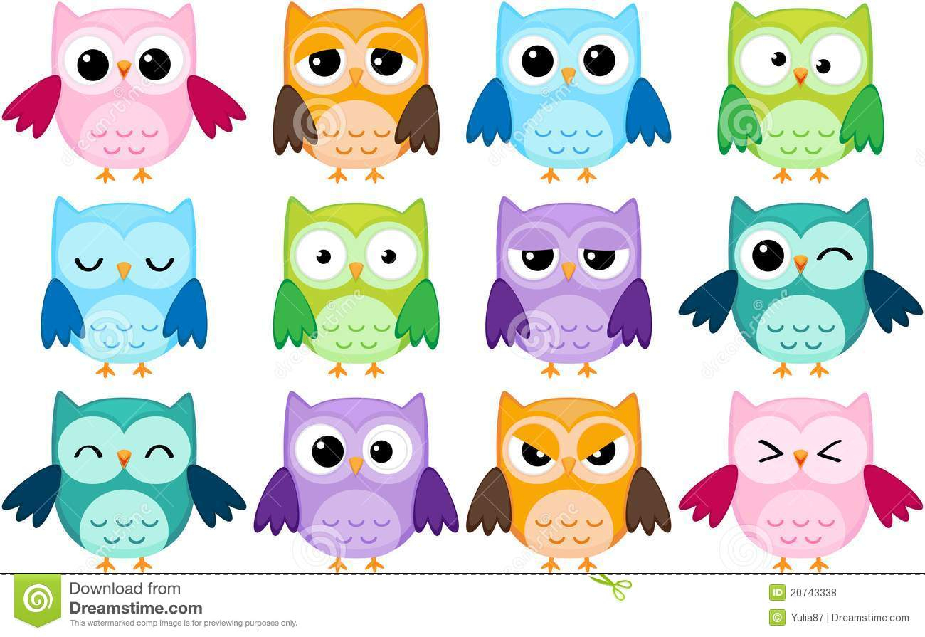Cartoon Owls Stock Vector. Illustration Of Animal à Hibou Dessin Couleur