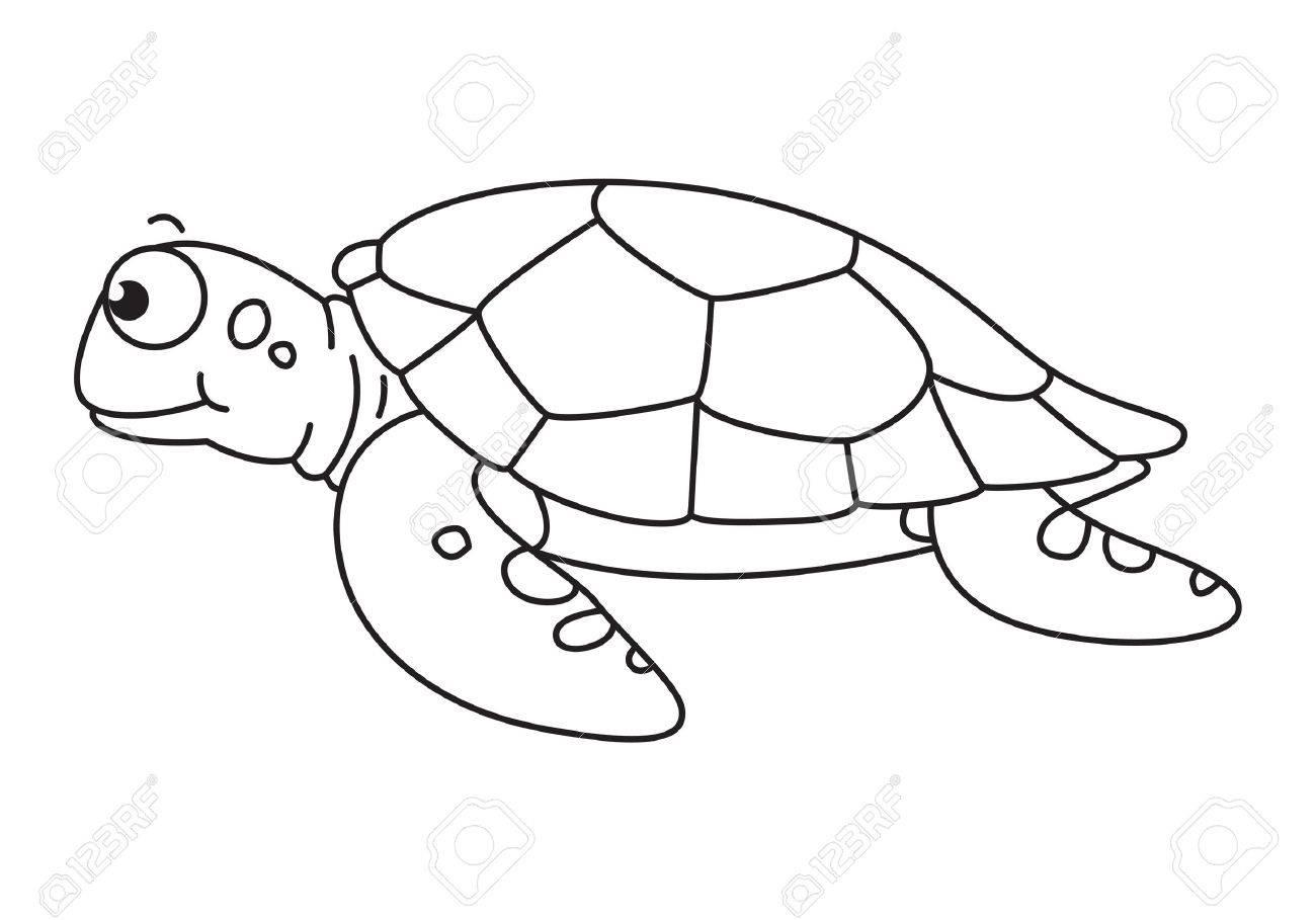Cartoon Sea Turtle, Vector encequiconcerne Dessiner Une Tortue