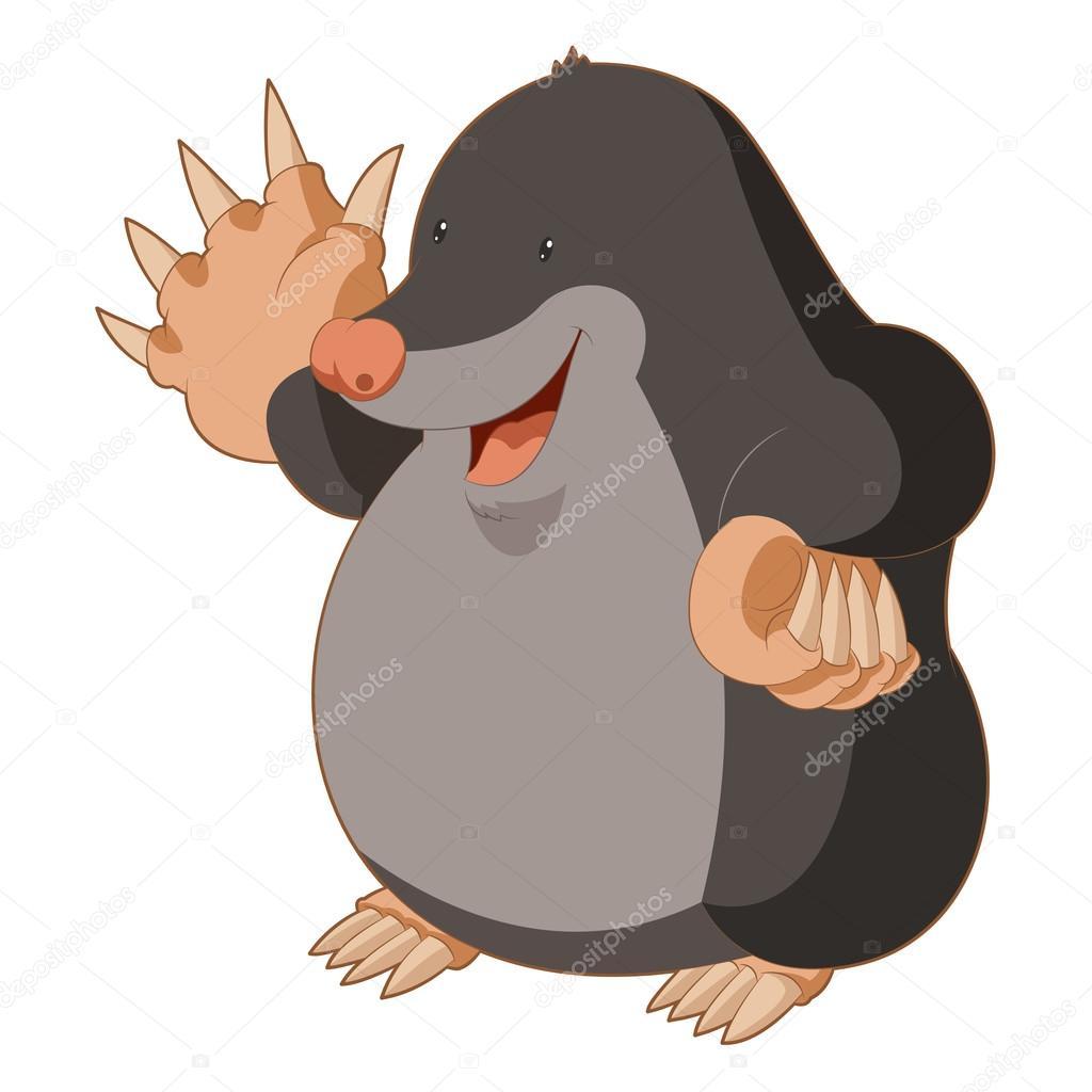 Cartoon Smiling Mole — Stock Vector © Kolonorf #104391434 intérieur Dessin De Taupe