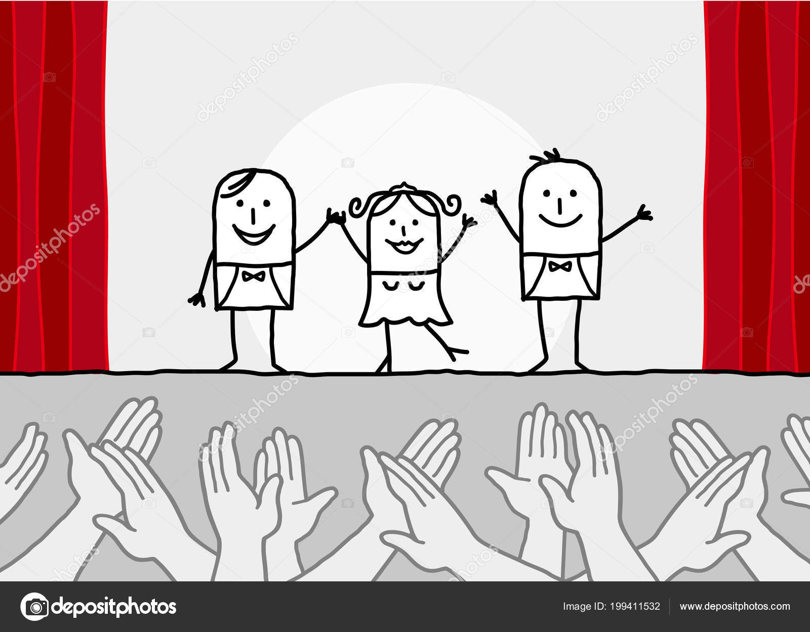 Cartoon Theater Show Clapping Hands — Stock Vector © Nlshop pour Dessin Theatre