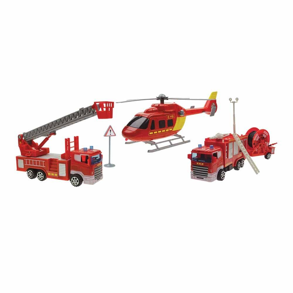 Caserne Pompier Avec Hélicoptère Rouge Et Jaune intérieur Jeux De Camion De Pompier Gratuit