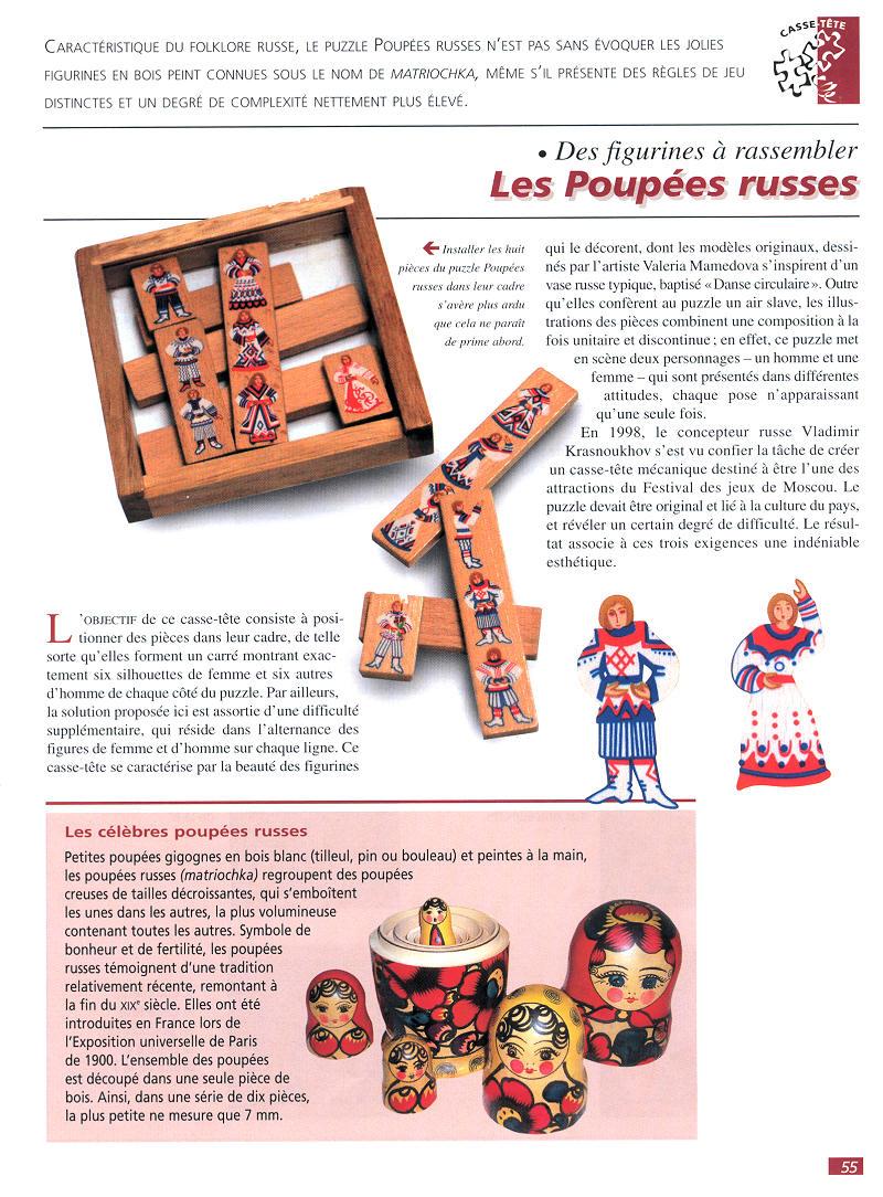 Casse-Tête - Bois - Les Poupées Russes - N° 27 - Éditions Fabbri à Nom Poupée Russe