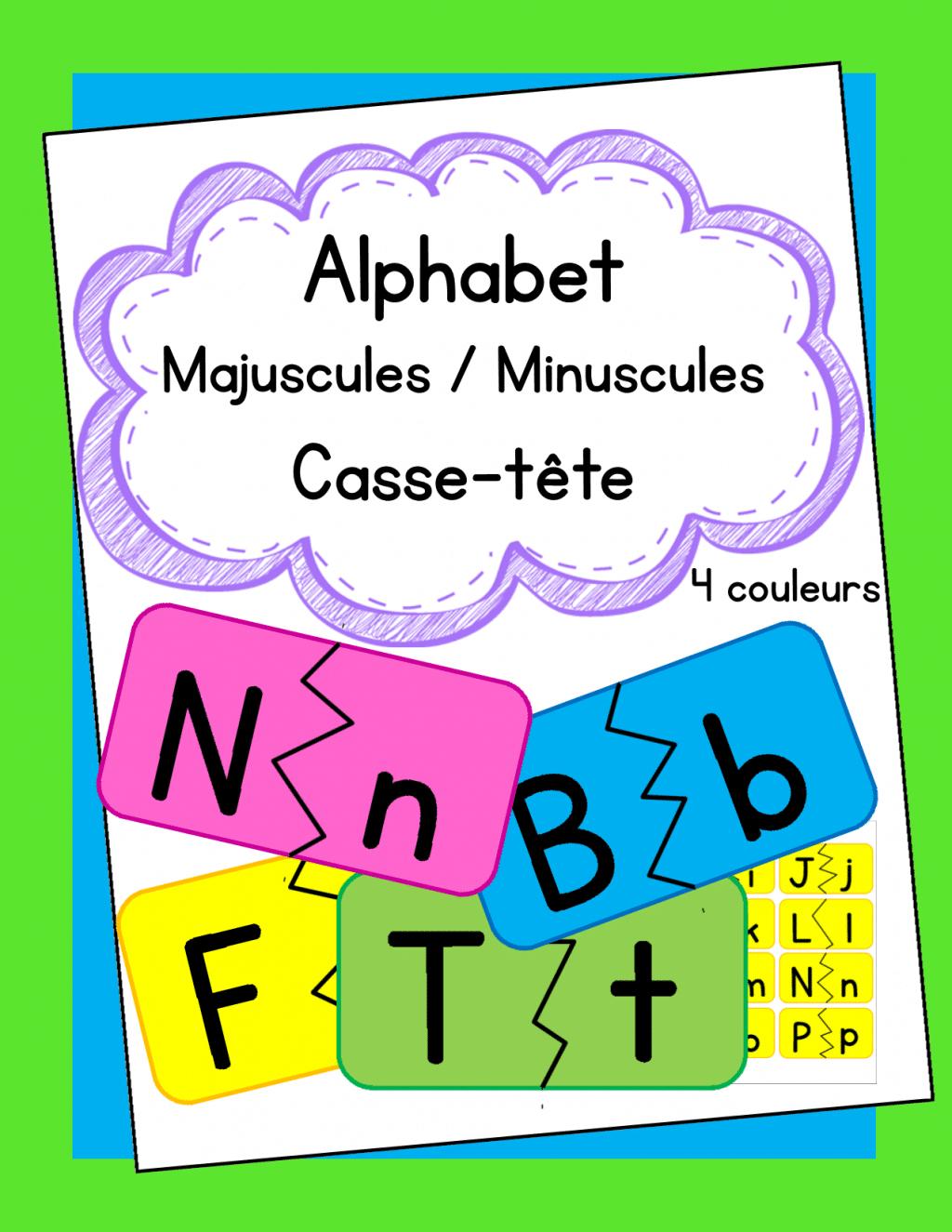 Casse-Tête Des Lettres Majuscules Et Minuscules tout Lettres Majuscules À Imprimer