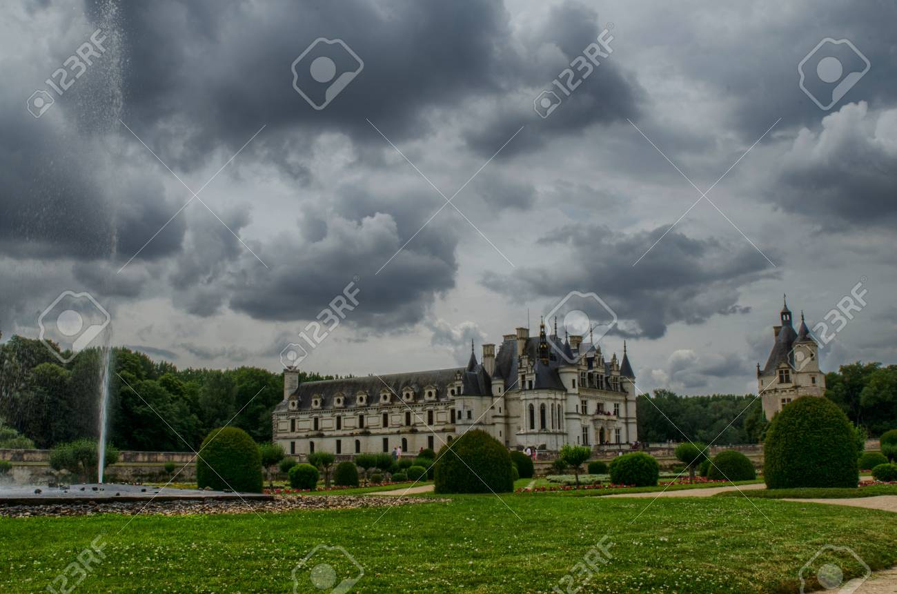 Castle Of Chenonceau, Loire Region, France. Snap Of June 27, 2017. The  Diana Gardens Of Poitiers serapportantà Region De France 2017