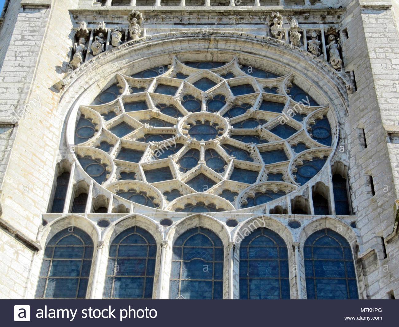 Cathédrale De Chartres - Rosace Stock Photo: 176838888 - Alamy encequiconcerne Image De Rosace