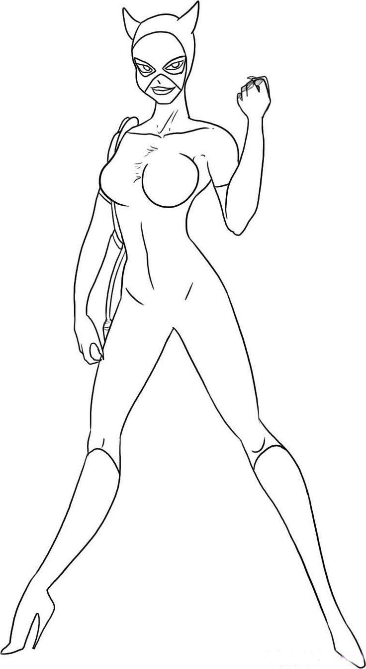 Catwoman #12 (Super-Héros) – Coloriages À Imprimer pour Masque De Catwoman A Imprimer