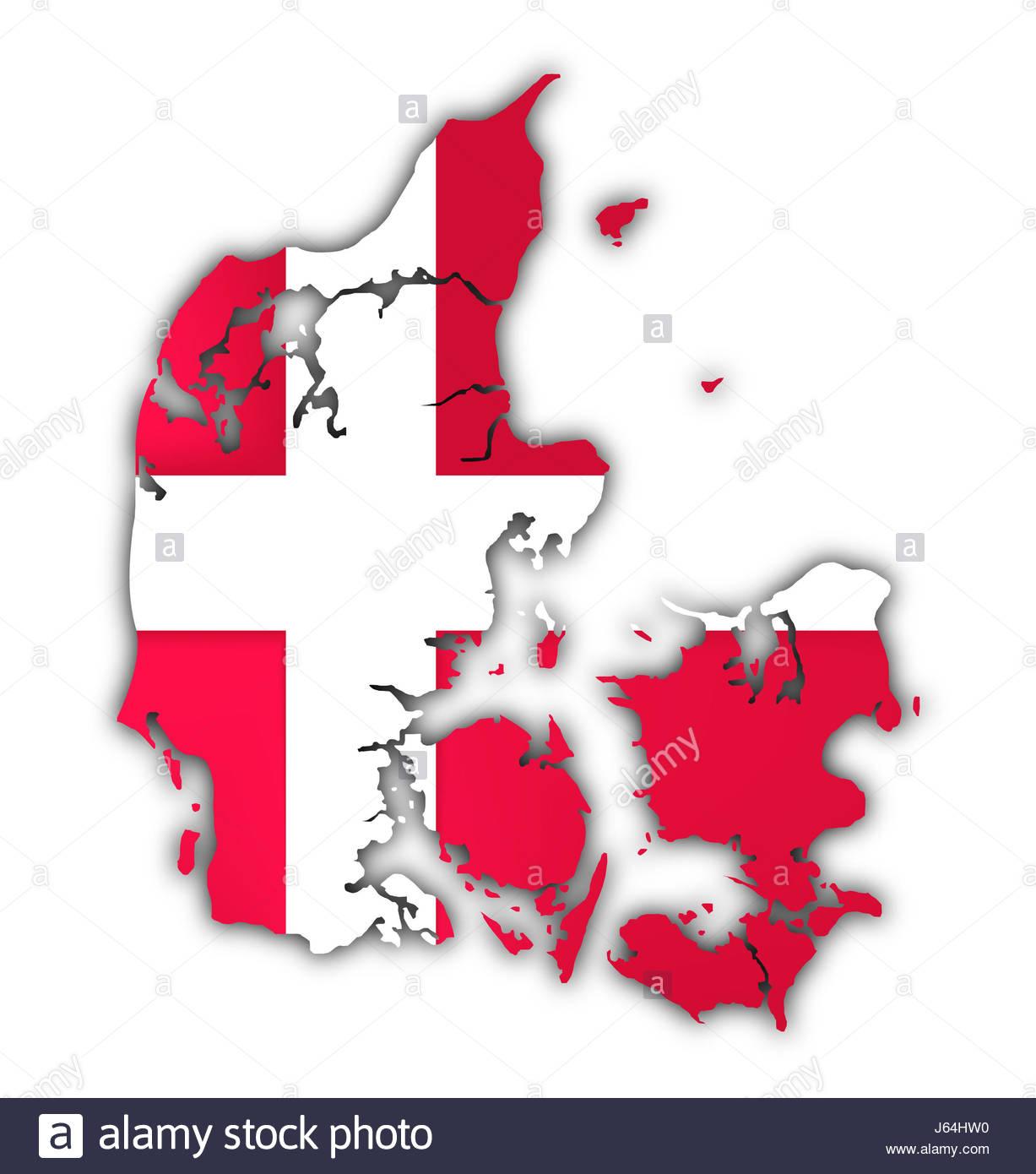 Caucase Europe Européenne Vierge Danemark Copenhague Drapeau pour Carte Vierge De L Union Européenne