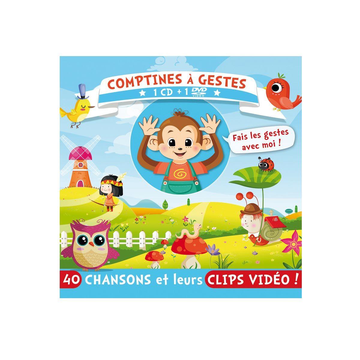 Cd Et Dvd Comptines À Gestes Pour Enfant De 2 Ans À 5 Ans destiné Jeux Video Enfant 5 Ans