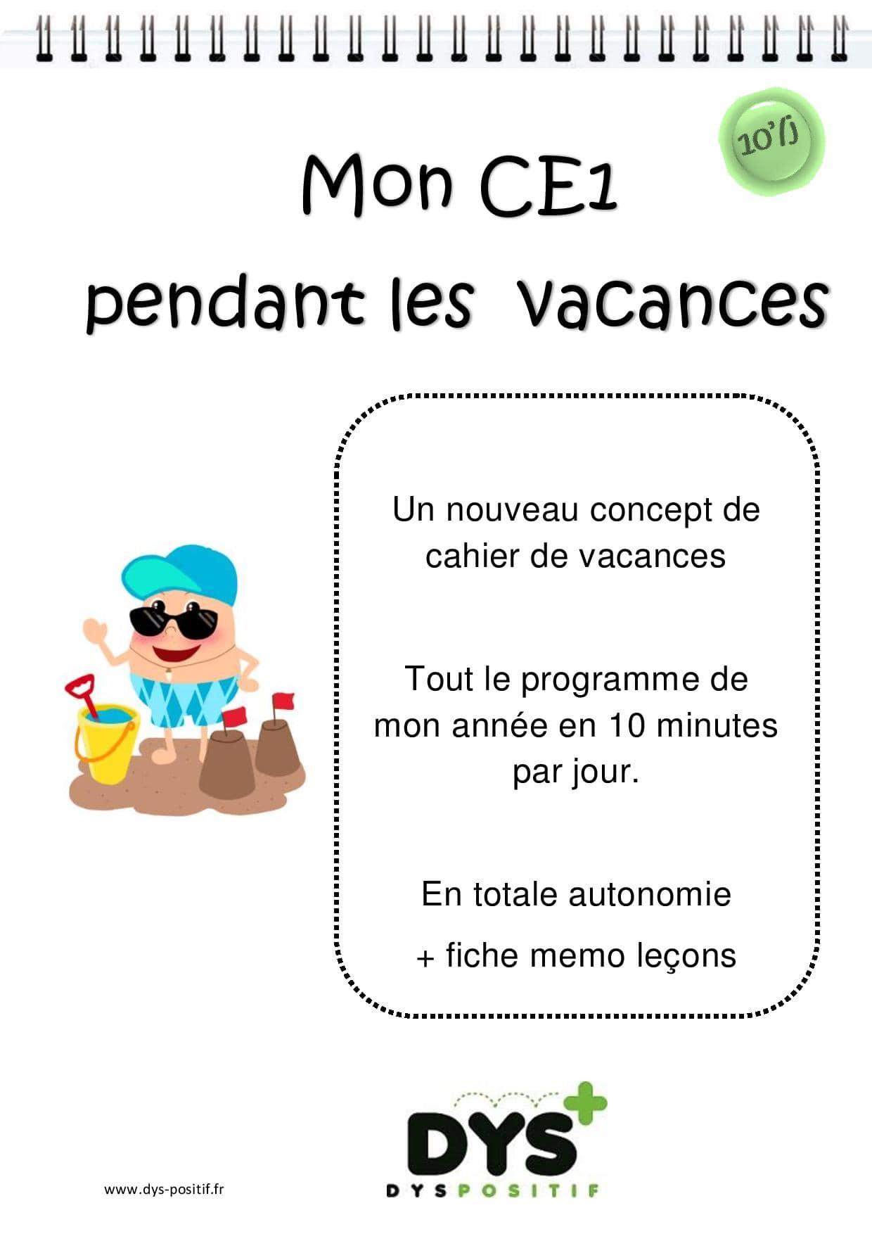 Ce1 - 2Ème Primaire - Cahiers De Vacances Dys À Imprimer concernant Journal De Vacances A Imprimer