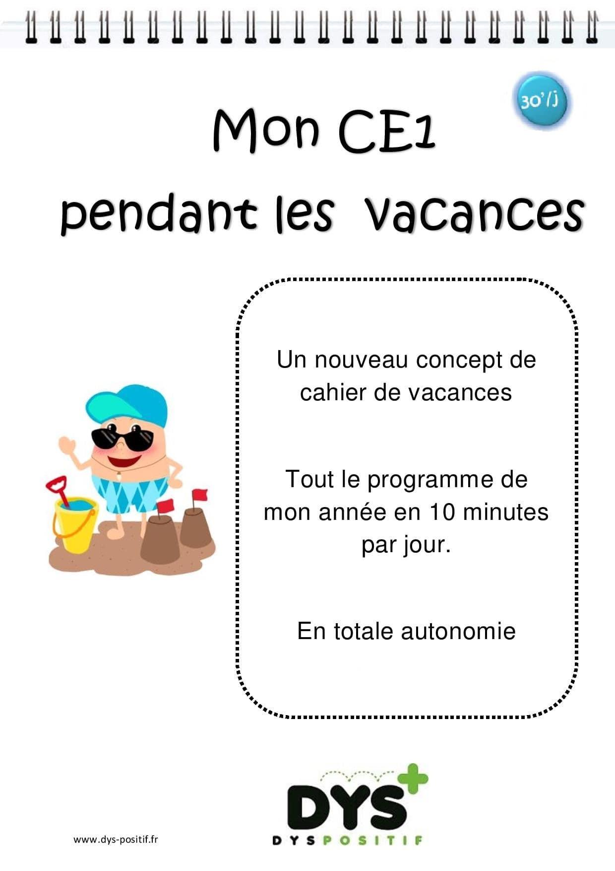 Ce1 - 2Ème Primaire - Cahiers De Vacances Dys À Imprimer tout Cahier De Vacances Maternelle À Imprimer