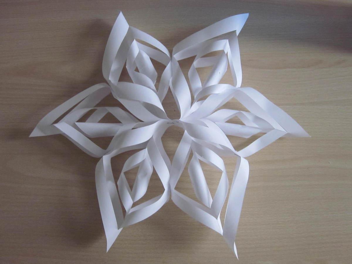 Ce1 B - Fabriquer Un Flocon De Neige : Mode D'emploi - Blog pour Decoupage Papier Facile