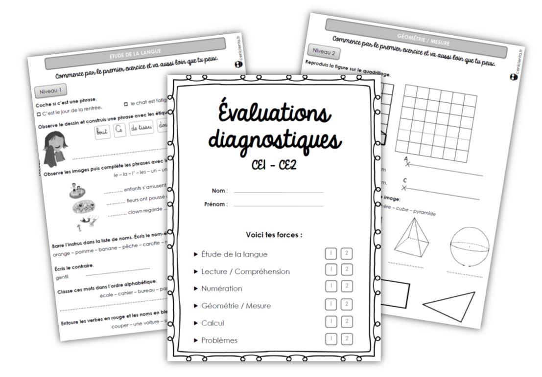 Ce1/ce2 • Outils • Evaluations Diagnostiques ~ encequiconcerne Travail De Cp A Imprimer Gratuit
