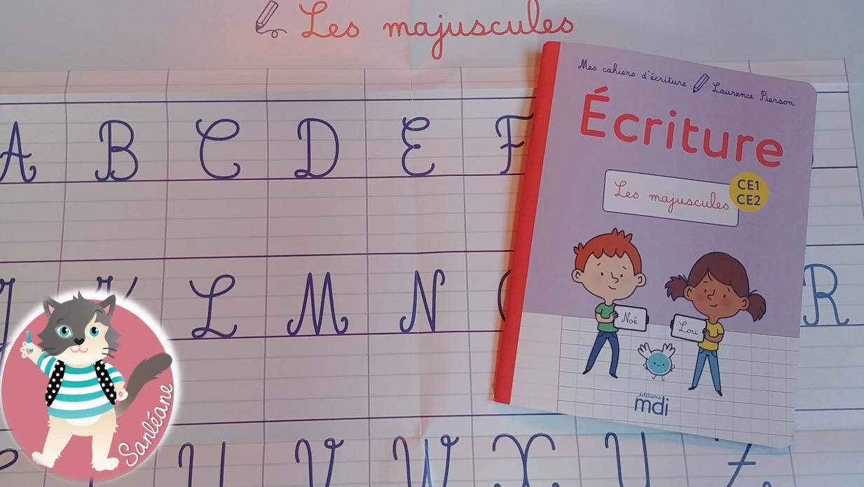 Ce1 - Le Petit Cartable De Sanleane tout Cahier D Écriture Cp Gratuit À Imprimer