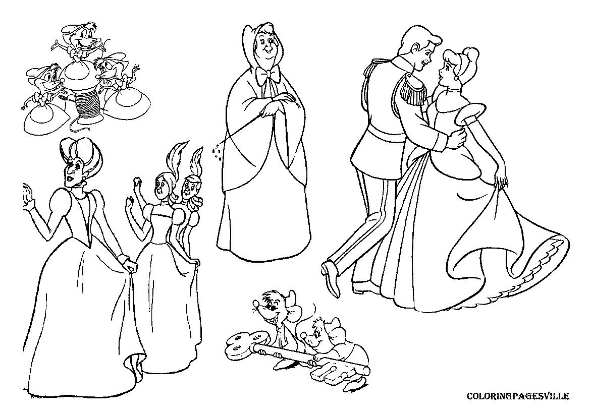 Cendrillon #214 (Films D'animation) – Coloriages À Imprimer encequiconcerne Cendrillon À Colorier