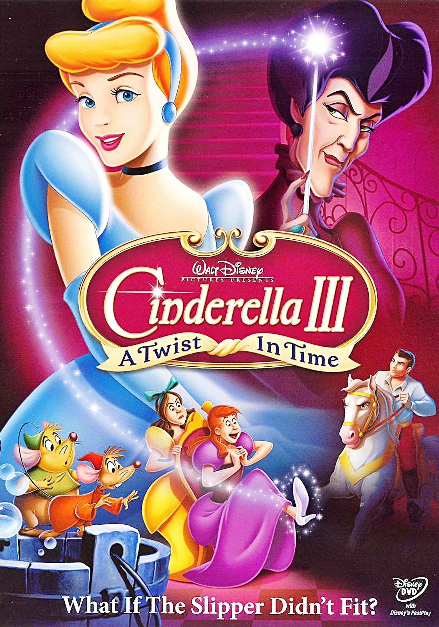 Cendrillon 3 - A Twist In Time Dvd Cover - Personnages De à Cendrillon 3 Disney