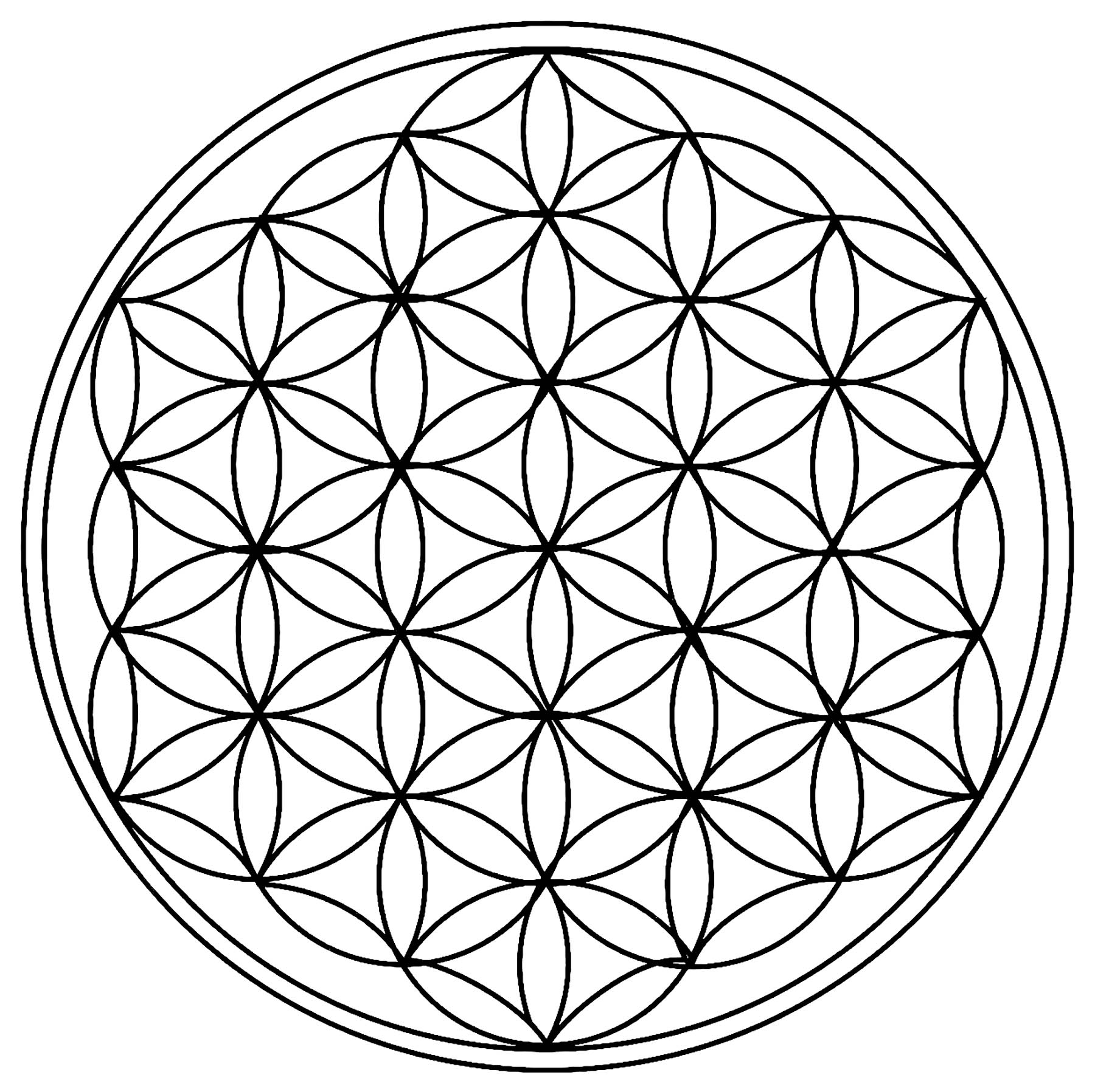 Cercles Géométriques Rosaces - Mandalas Avec Motifs serapportantà Rosace A Imprimer