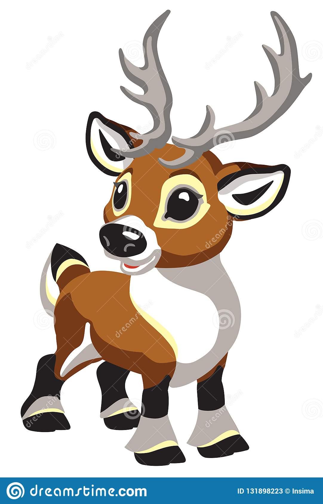 Cerfs Communs De Caribou De Noël De Bande Dessinée destiné Caribou Dessin