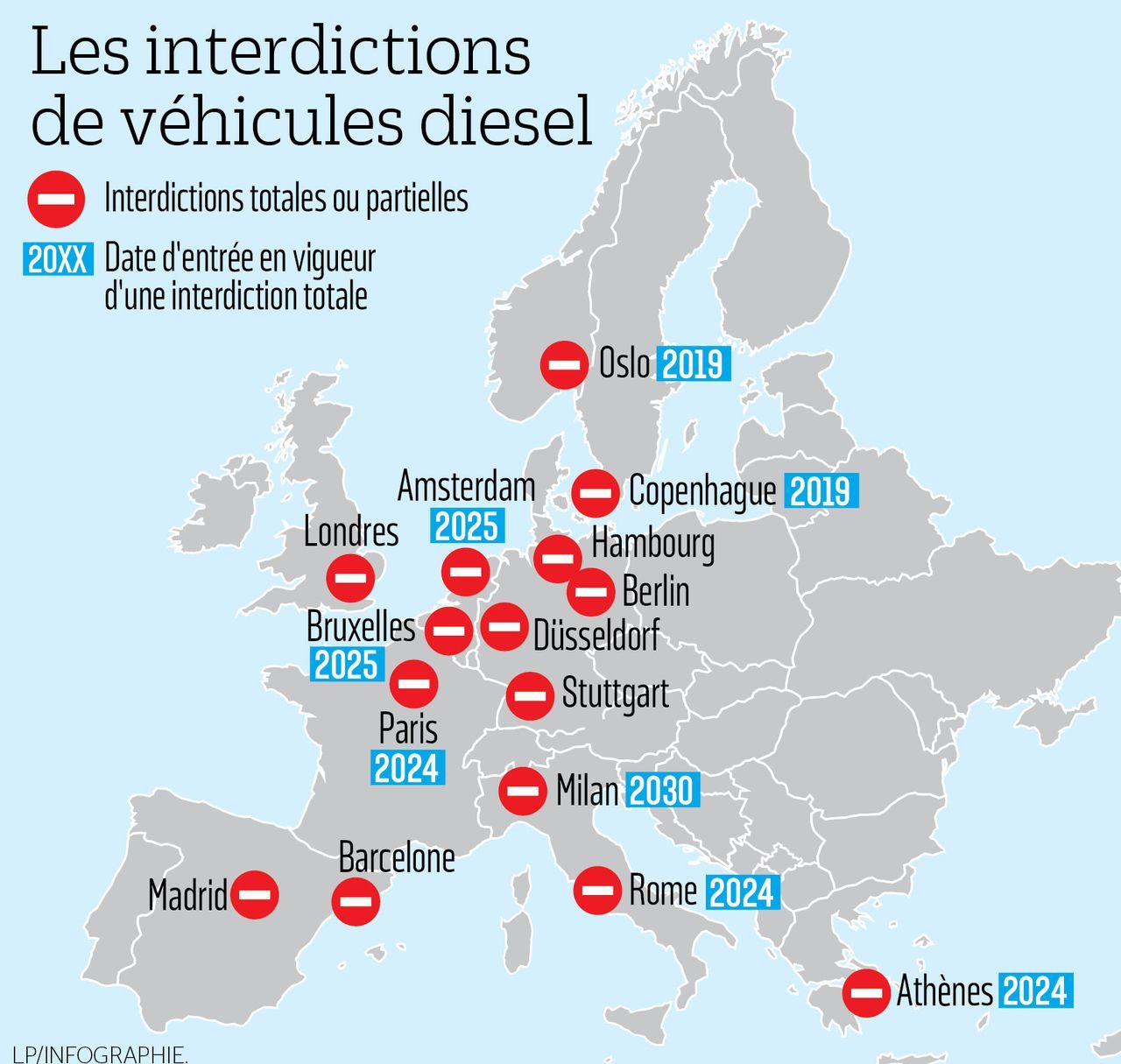 Ces Grandes Villes D'europe Qui S'apprêtent À Bannir Le destiné Carte Europe Avec Capitales