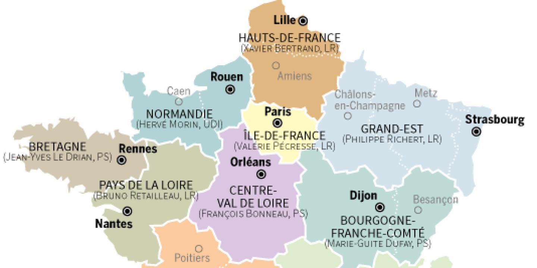Ces Nouvelles Régions En Quête D'identité avec Nouvelles Régions De France 2016