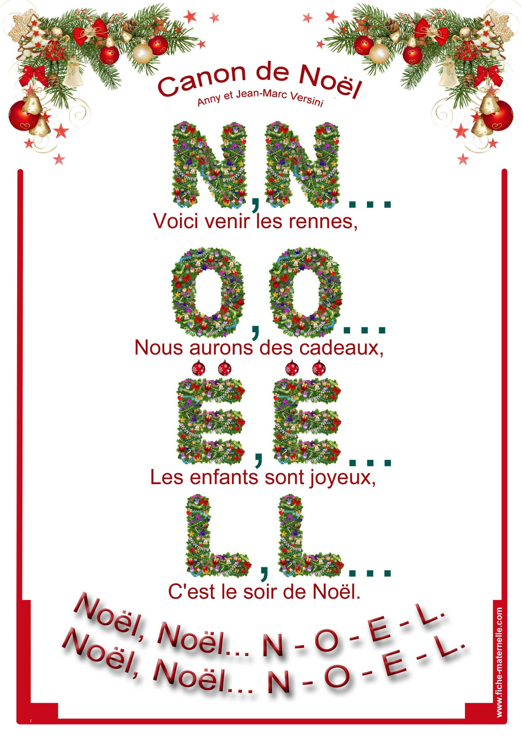 Chanson De Noël En Maternelle destiné Imagier Noel Maternelle