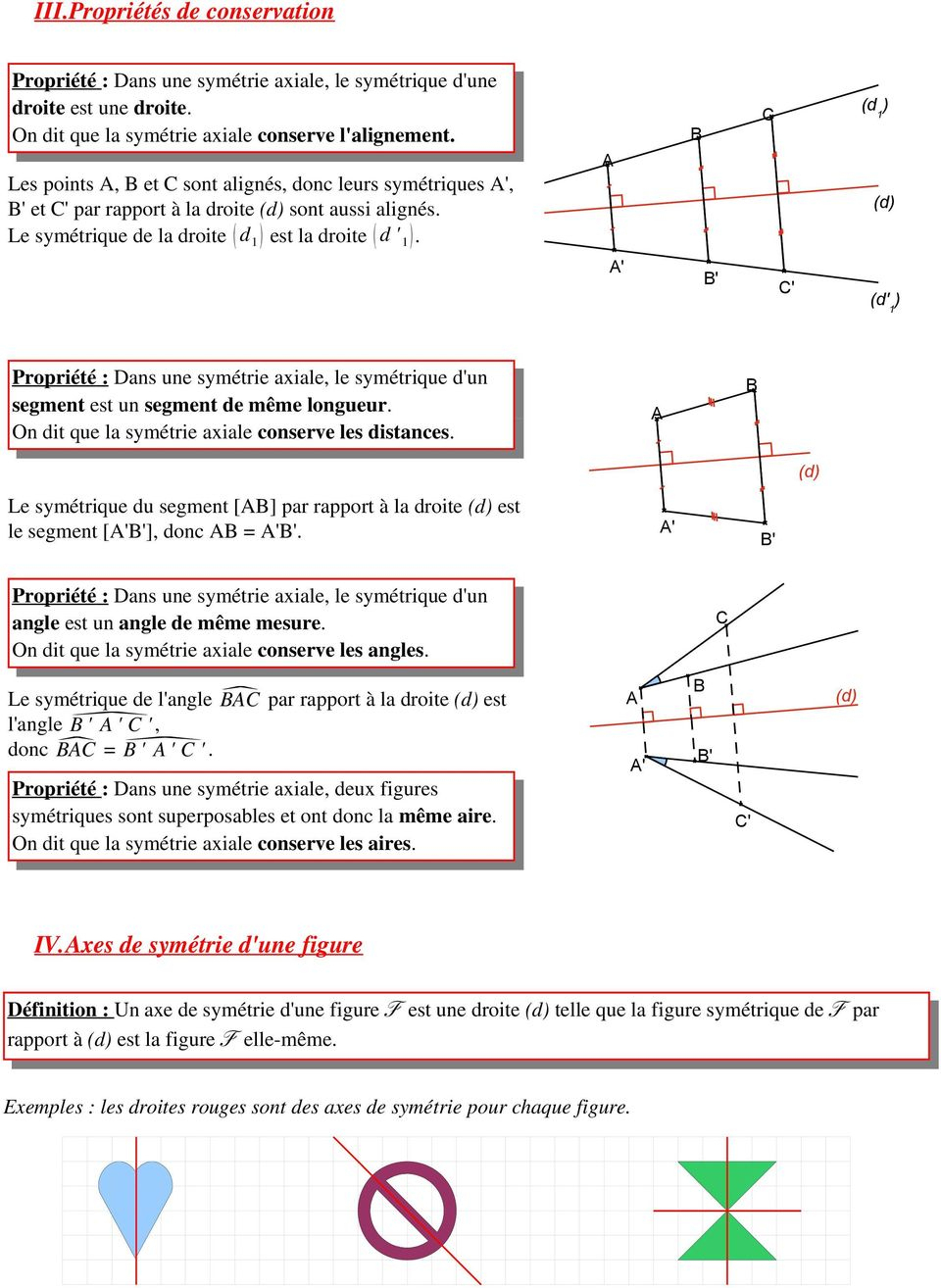 Chapitre 11 : Symétrie Axiale - Pdf Free Download dedans Symetrie Axial
